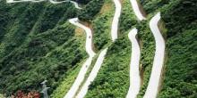 """بالصور: تعرف على""""طريق الجنة"""" الأخطر في الصين"""