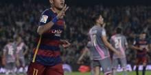 بالفيديو والصور : برباعية نيمار برشلونة يقضي علي فاليكانو