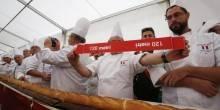رغيف خبز طوله 122 متر يدخل موسوعة جينيس