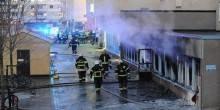 انفجار واجهة مطعم تركي بجميرا