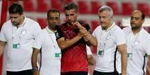مدافع الأهلي يوسف السيد يصاب بخلع في الكتف خلال مباراة الوصل