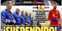 صحف أوروبا..الإرهاب يلغي ودية اسبانيا-بلجيكا .. وقمة يوفي-ميلان