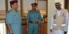 محمد المزاحمي ضابط ليوم واحد في مبادرة الهلال الأحمر