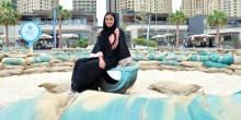 أمواج الرمال عمل إبداعي جديد في دبي ذا بييتش