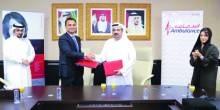 دبي لخدمات الإسعاف توقع مذكرة تعاون  مع مستشفى ميديور