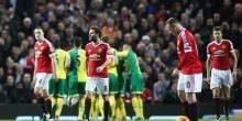 بالفيديو والصور: مانشستر يونايتد يواصل العروض المخيبة ويسقط أمام نوريتش سيتي