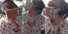 فيديو: ردة فعل إمرأة مسنة عند استخدام نظارات الواقع الافتراضي