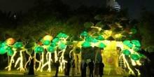 بالفيديو: أكبر حديقة مضيئة بدبي