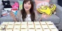 بالفيديو: إمرأة تلتهم 100 قطعة توست في دقائق!