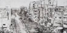 """بالفيديو: دمار الحرب في سوريا من خلال لوحات معرض """"الطريق"""""""