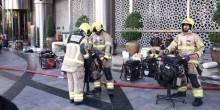 بالصور: كيف سيطر رجال الحماية المدنية على حريق فندق العنوان