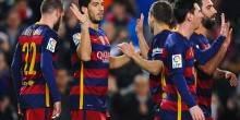 بالصور والفيديو: سواريز وميسي يقودان برشلونة لسباعية في مرمي فالنسيا
