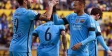 بالفيديو والصور: برشلونة يعزز الصدارة بفوز علي لاس بالماس