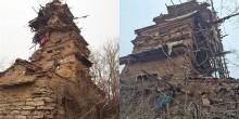 مزارع يبني منزل من 7 طوابق بالحجارة في 5 سنوات