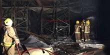 حريق في مستودعات تجارية والدفاع تنجح في السيطره عليه
