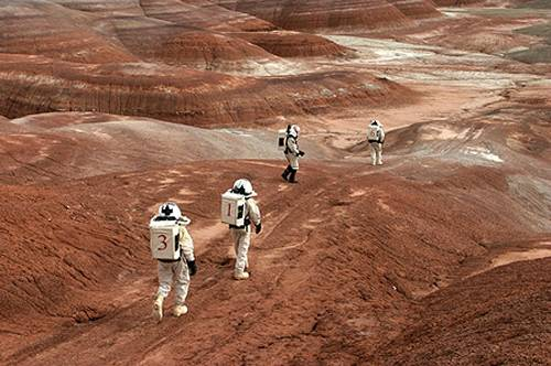 Mars Desert Research Station  In the middle of the desert of Utah a group of sciences from all around the world is gathering for couples of weeks every few month to search watt human being can do on mars planet.    Every crow of volunteers includes some biologist geologist and other nether scientist researches.    They chose the desert of Utah because it simulated the acclaim on the planet Mars, for getting the filling of being on Mars and to challenge the research and to make it close as they can to the conditions on the planet they wear spies suit and live isolated in the laboratory for too weeks ich teem.  The man person that ran the project is Robert Zabrin that believe that this project can lied to find ways to search for life on Mars and maybe to fined a way that human being will be able to live on the planet.    This project is privet projects that cooperate with several universities around the world.    MDRS Crew 42 in a walking mission out of the hub