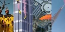 فيديو قفزة مغامران من برج خليفة من الزاوية 360