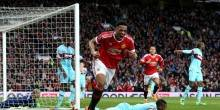 بالفيديو والصور: تعادل إيجابي يجبر مانشستر يونايتد ووست هام علي الإعادة في ربع النهائي
