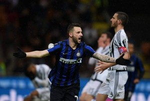 during the TIM Cup match between FC Internazionale Milano and Juventus FC at Stadio Giuseppe Meazza on March 2, 2016 in Milan, Italy.
