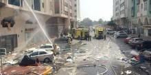 إصابة 15 شخصًا نتيجة حريق في بناية سكنية بأبوظبي