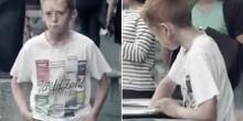 شاهد بالفيديو ردود أفعال المارة أمام طفل يأكل من القمامة