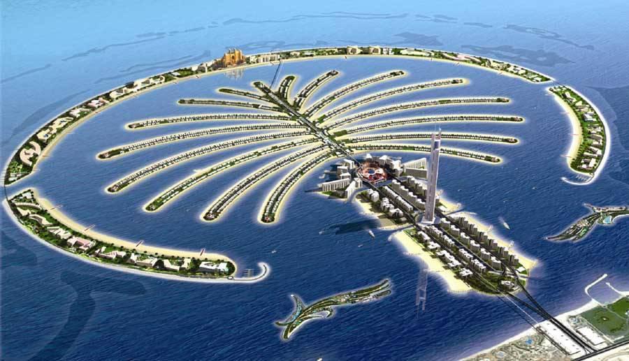 Image result for جزر النخيل بالإمارات
