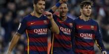 ثلاثي برشلونة المرعب يقترب من كسر حاجز الـ100 هدف