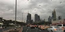 دبي تسجل 253 حادث مروري خلال 7 ساعات من سقوط الأمطار