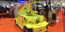 الدفاع المدني يكشف عن أول روبوت للحماية من الحرائق