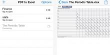 تطبيق على أجهزة الـ iOS يحول الملف من PDF إلى Excel