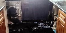 شاهد بالصور انفجار غسالة أطباق في بريطانيا