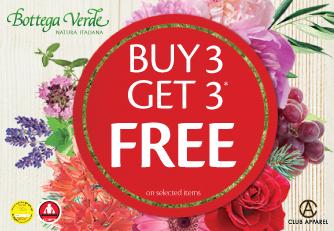 عرض buy 3 get 3 free من Bottega Verde