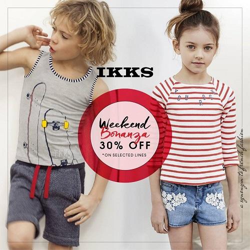 تخفيضات الويكاند حتى 30% من IKKS على ملابس الأطفال