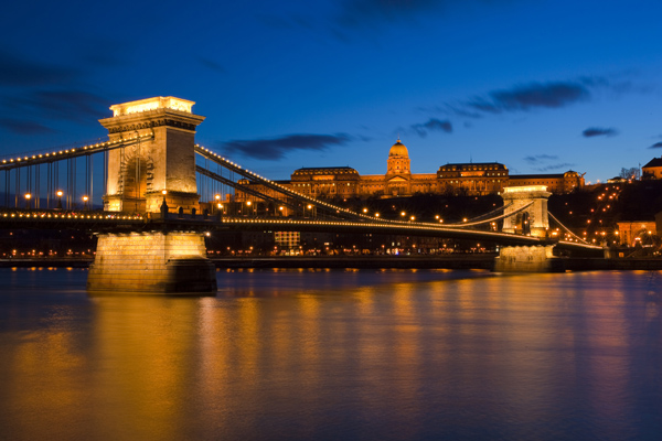 Budapest, night, Danube, river, Hungary