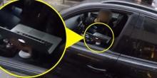بالفيديو: بريطانية تشتغل على الحاسوب أثناء قيادة السيارة