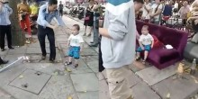 شاهد بالفيديو مدى شجاعة هذا الطفل في الدفاع عن جدته
