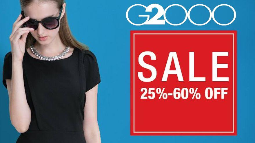 تخفيضات حتى 60% على الملابس الرجالية والنسائية من G2000