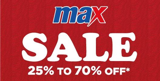 تخفيضات من Max حتى 70% على جميع الأزياء