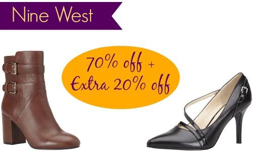تخفيضات حتى 70% على الأحذية والصنادل والاكسسوارات من Nine West
