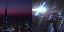 بالفيديو: مشهد من  فيلم حرب النجوم  فوق برج خليفة