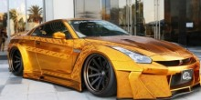شاهد بالفيديو سيارة نيسان ذهبية بسعر 3 مليون درهم في دبي