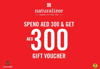 اشتري بقيمة 300 درهم من Naturalizer واحصلي على 300 درهم إضافية كهدايا