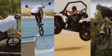 بالفيديو: مغامر يؤدي حركات احترافية على الدراجة بدبي وأبوظبي