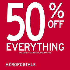 كل الأزياء والملابس مقابل نصف الثمن فقط من Aeropostale حتى 31 مايو 2016