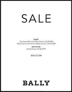 تخفضيات من 25% إلى 60% من أزياء Bally حتى نهاية مايو 2016