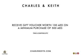 هدايا وقسائم شرائية من Charles & Keith حتى 31 مايو 2016