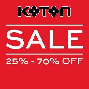 تخفيضات إلى حدود 70% من Koton حتى 31 مايو 2016