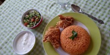 أكلات رمضانية: الأرز الأحمر مع البروستد