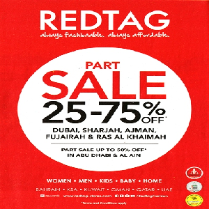 تخفيضات Red Tag حتى 75% إلى حدود 19 مايو 2016
