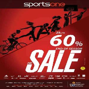 تخفيضات إلى حدود 60% من Sportsone حتى 31 مايو 2016